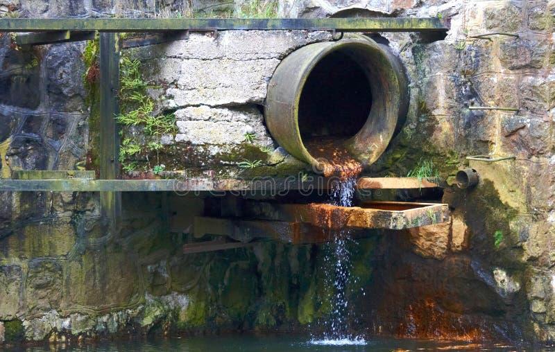 Tubulação da água de esgoto foto de stock