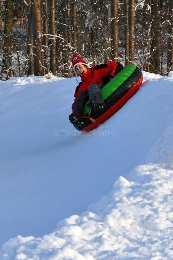 Tubulação da neve fotografia de stock royalty free