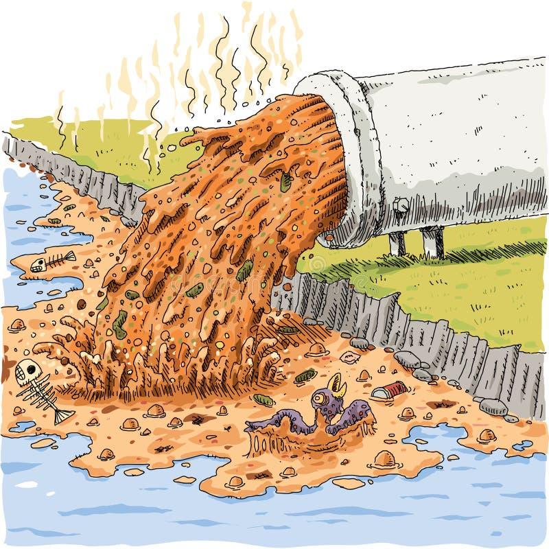 Tubulação da poluição ilustração stock