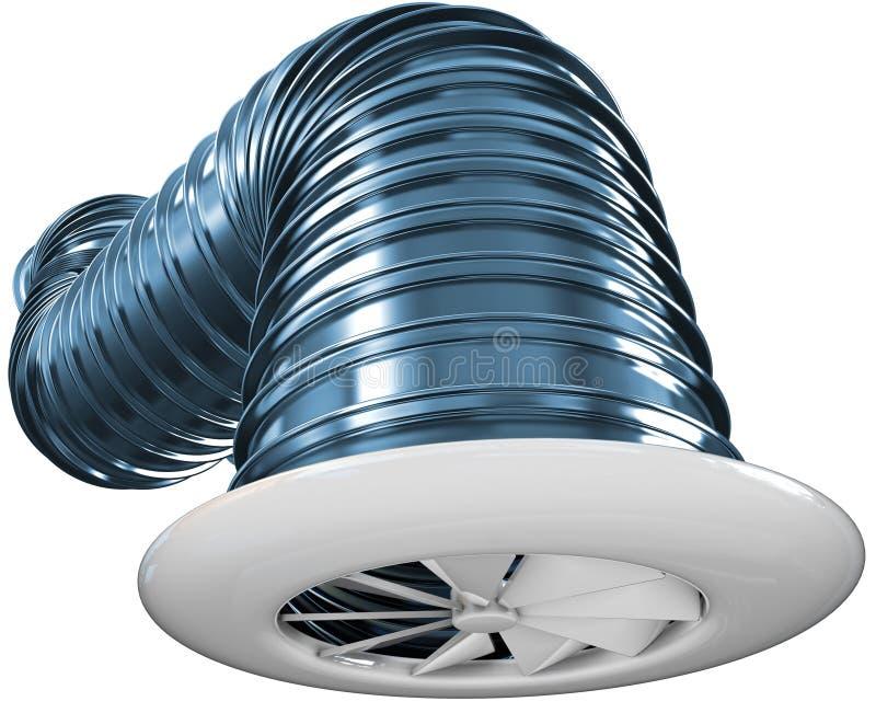 Tubulação da ventilação ilustração do vetor