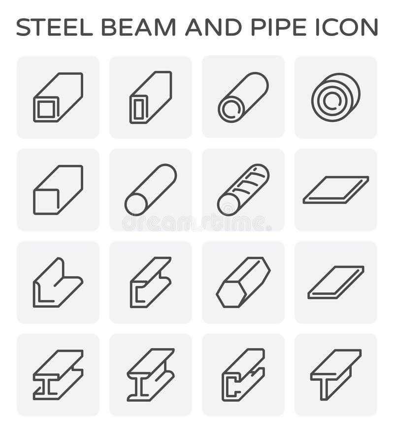 Tubulação da viga de aço ilustração stock