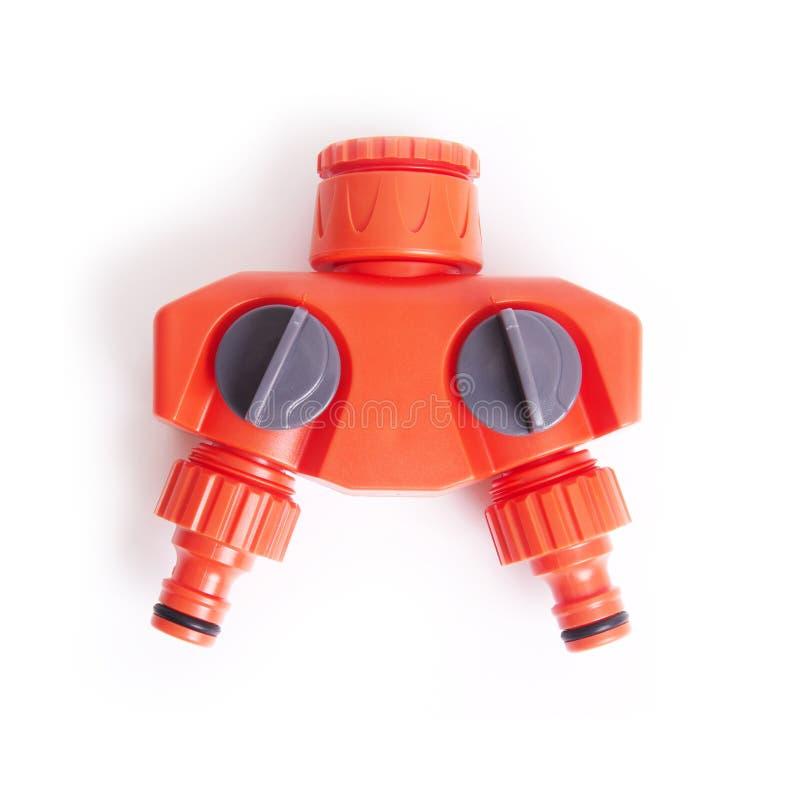 Tubulação de água de duas maneiras foto de stock royalty free