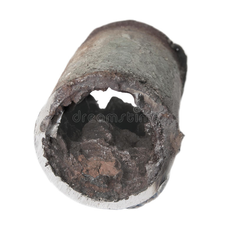 Tubulação de água oxidada foto de stock