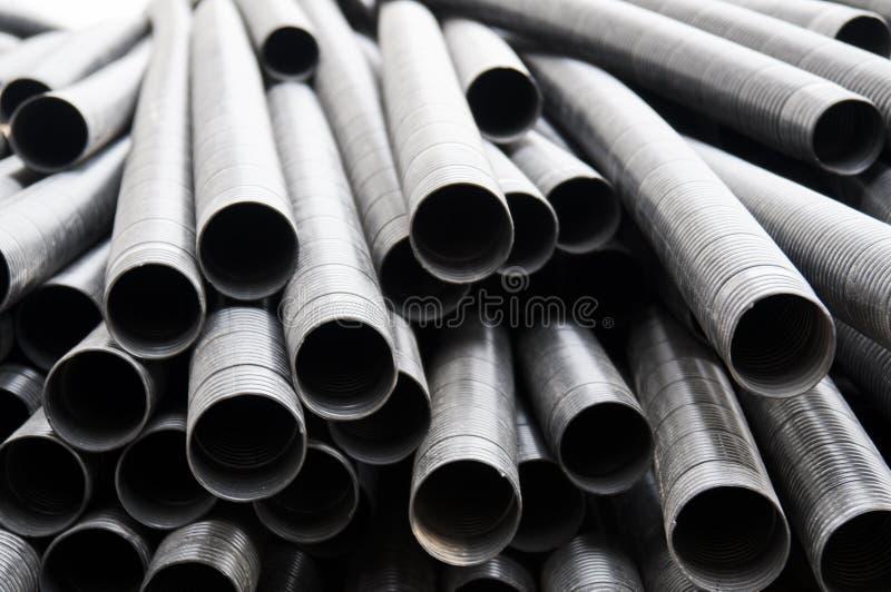 Tubulação de aço fotografia de stock