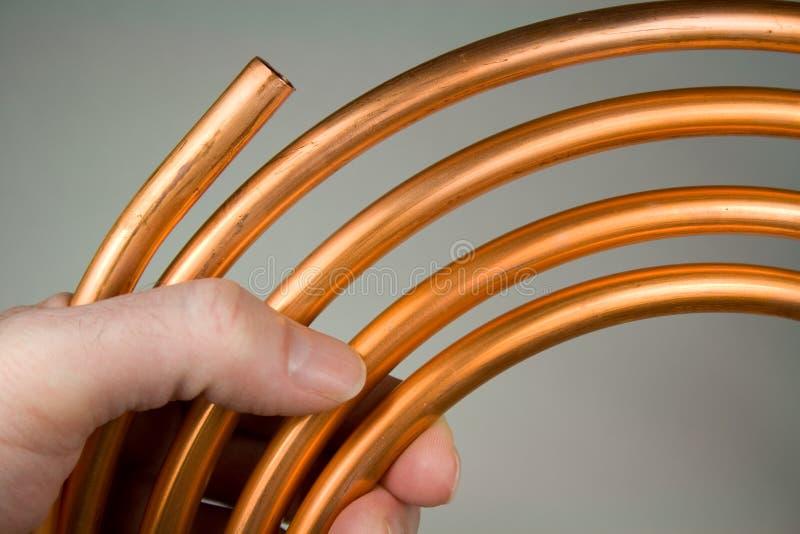 Tubulação de cobre imagem de stock