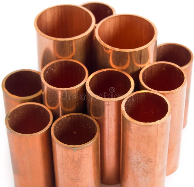 Tubulação de cobre foto de stock royalty free
