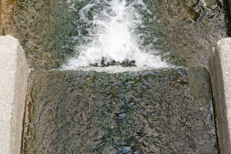Tubulação de dreno do esgoto foto de stock