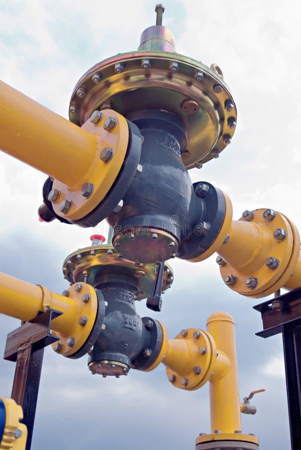 Tubulação de gás imagem de stock royalty free