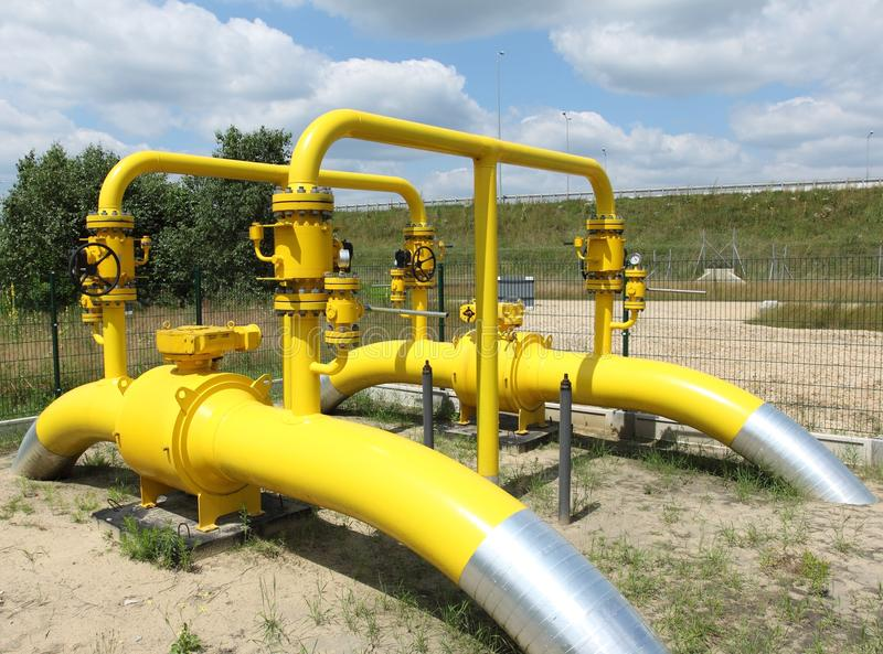 Tubulação de gás imagens de stock royalty free