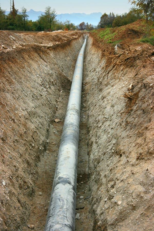 Tubulação de gás fotografia de stock