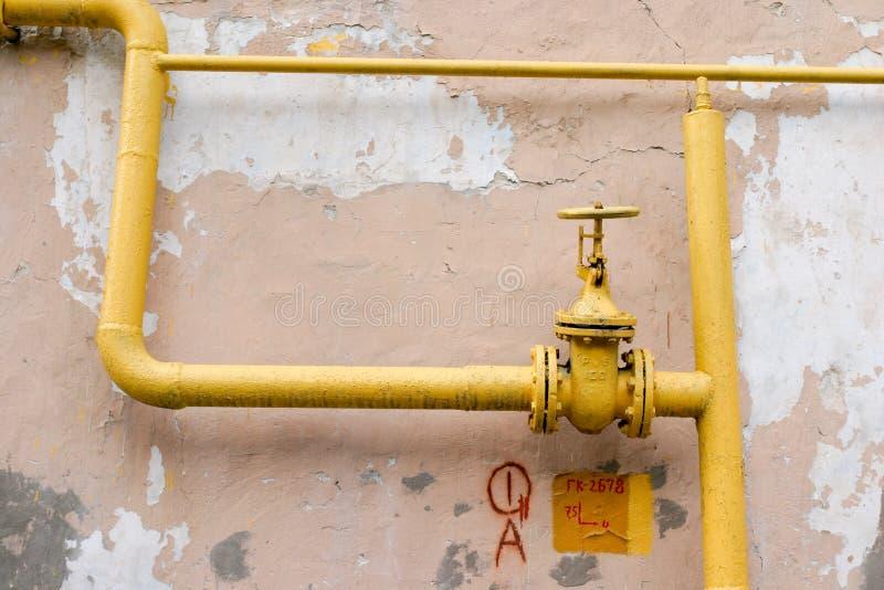 Tubulação de gás velha imagem de stock