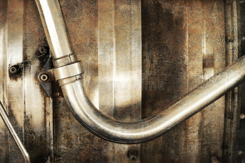Tubulação do metal imagem de stock