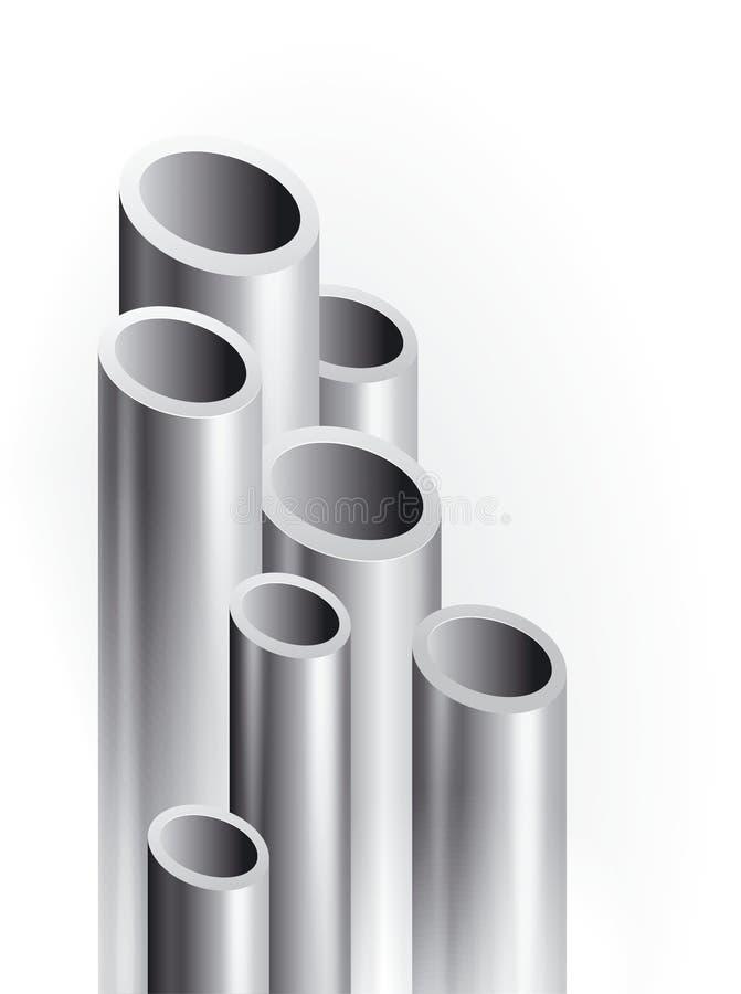 Tubulação do metal ilustração royalty free