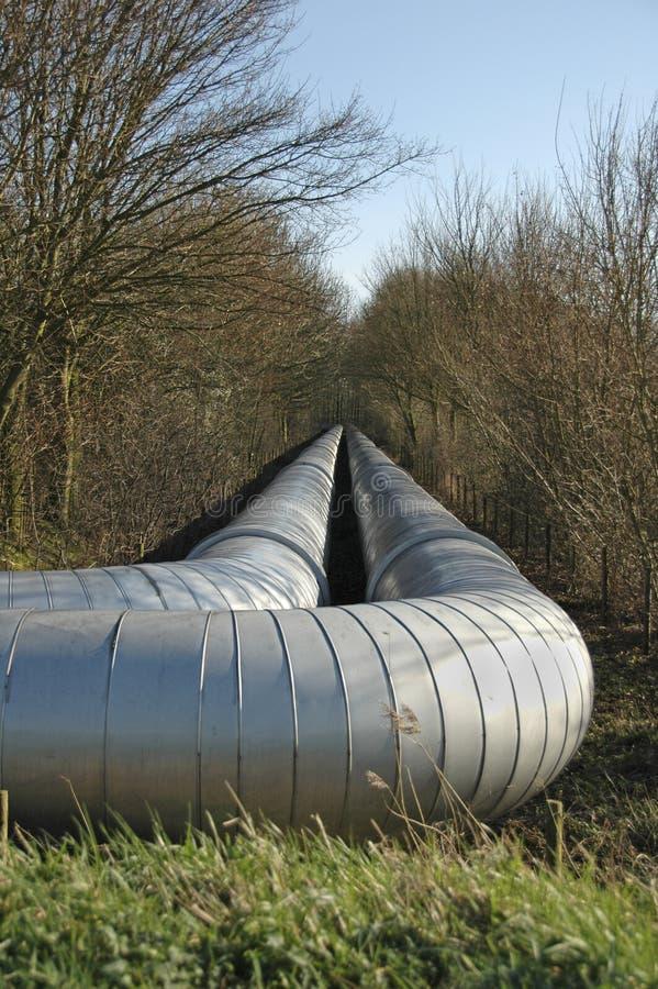 Tubulação do transportion do gás natural fotos de stock royalty free