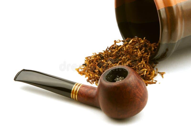 Tubulação e tabaco imagem de stock
