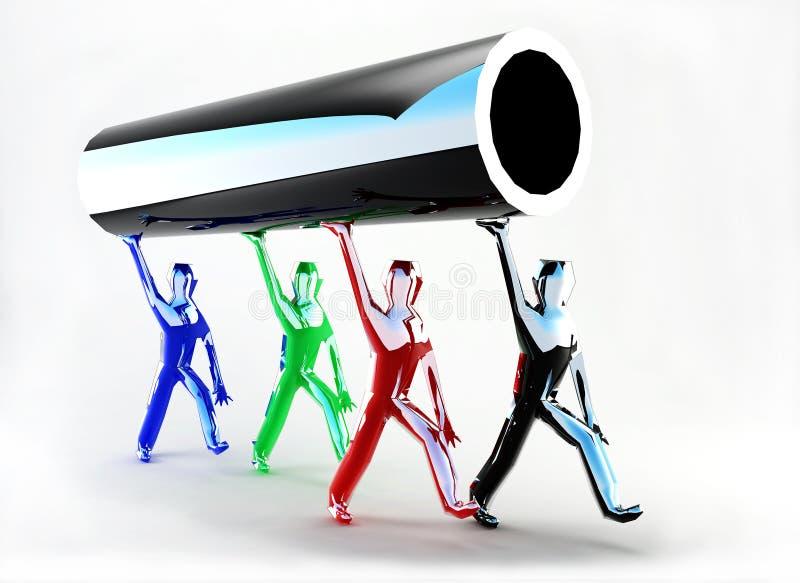 Tubulação futurista ilustração royalty free