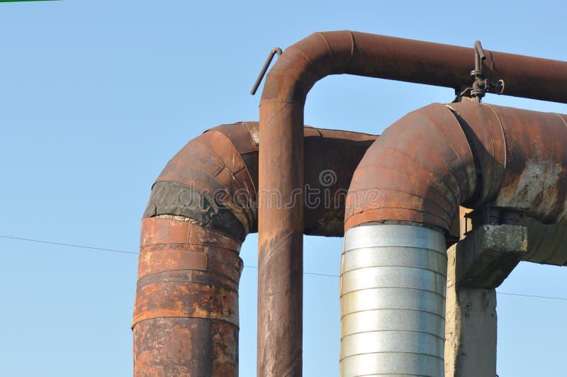 Tubulação oxidada imagens de stock royalty free
