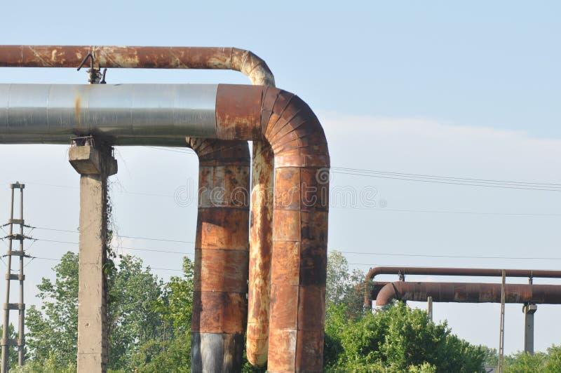 Tubulação oxidada foto de stock