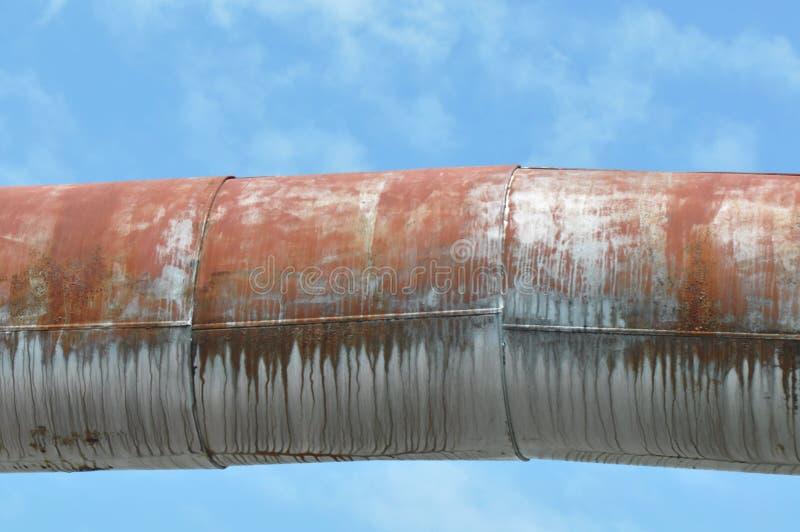 Tubulação oxidada imagem de stock