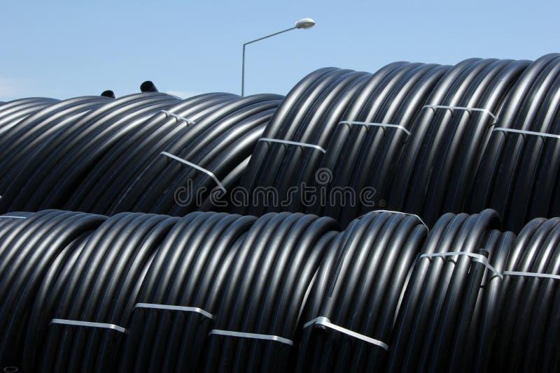 Tubulação plástica foto de stock