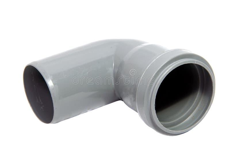 Tubulação plástica do encanamento isolada no branco imagens de stock
