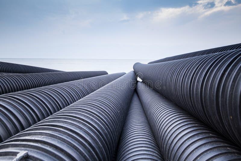 Tubulação plástica industrial foto de stock royalty free