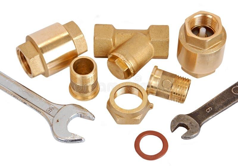 Tubulação, válvula e chave do encanamento foto de stock royalty free