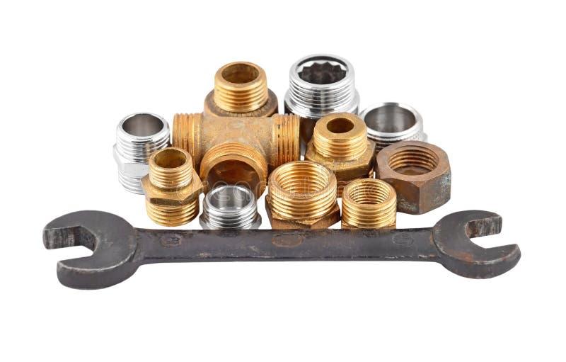 Tubulação, válvula e chave do encanamento fotografia de stock royalty free