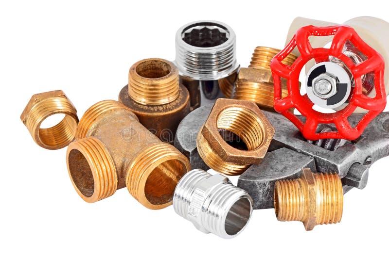 Tubulação, válvula e chave do encanamento imagem de stock