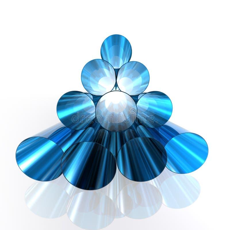 Tubulações brilhantes azuis ilustração royalty free