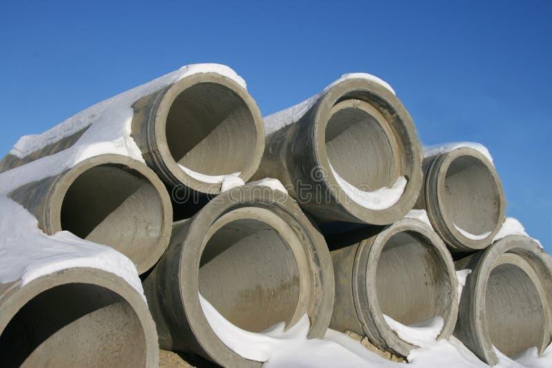 Tubulações concretas. imagens de stock