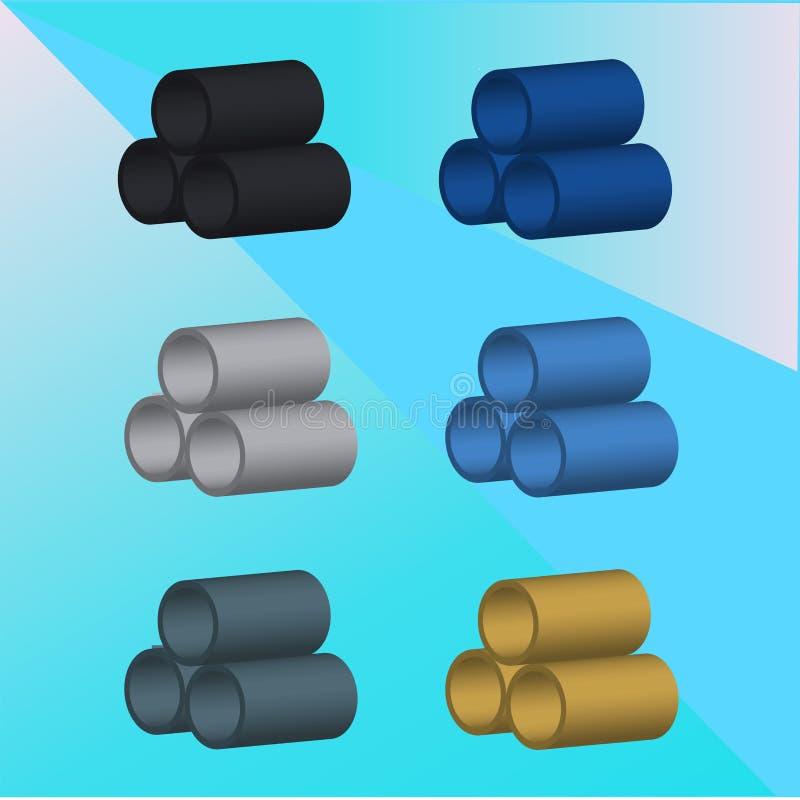 Tubulações da imagem do vetor 3D ilustração do vetor