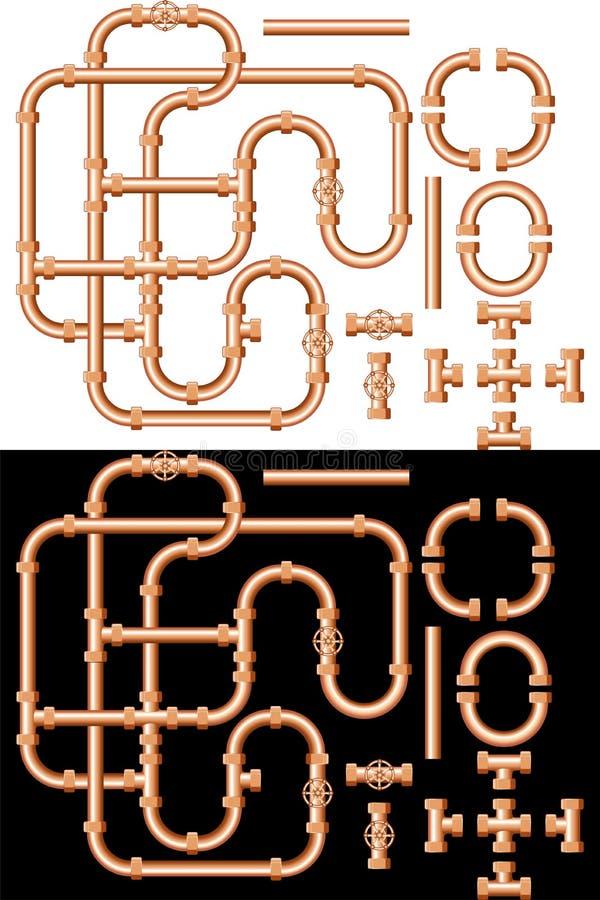 Tubulações de água ilustração royalty free