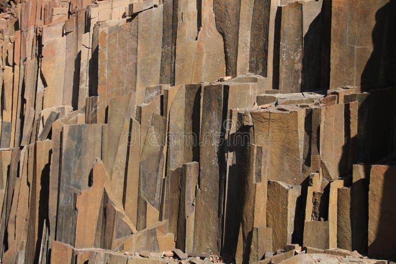Tubulações de órgão, Damaraland, Namíbia. foto de stock
