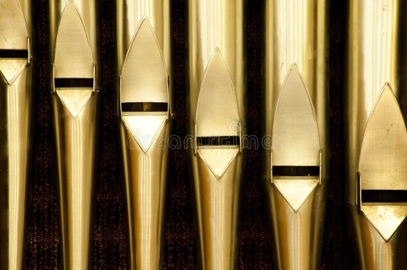 Tubulações de órgão em Christian Monastery fotos de stock royalty free