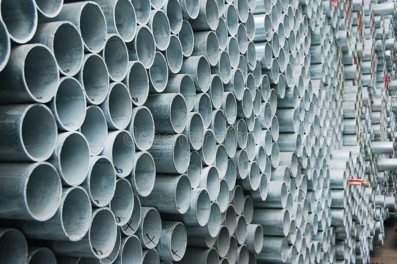 Tubulações de aço imagens de stock