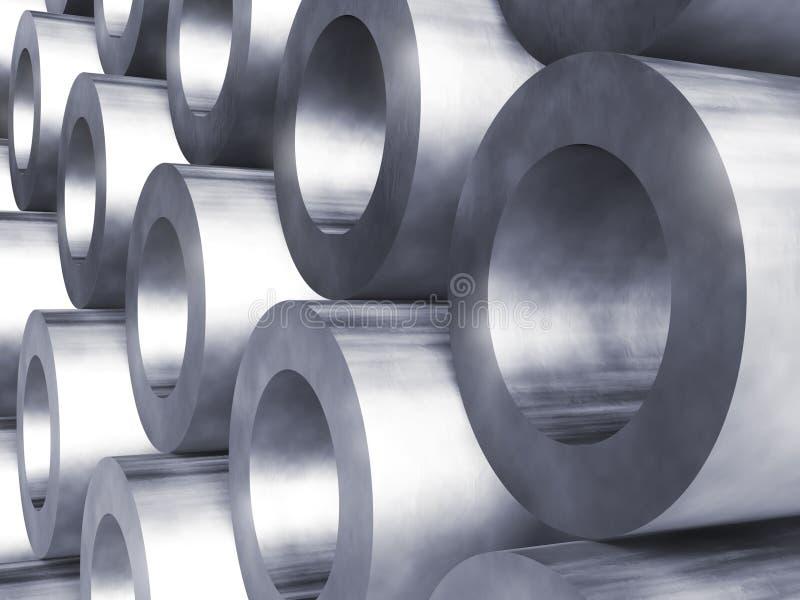 Tubulações de aço ilustração stock