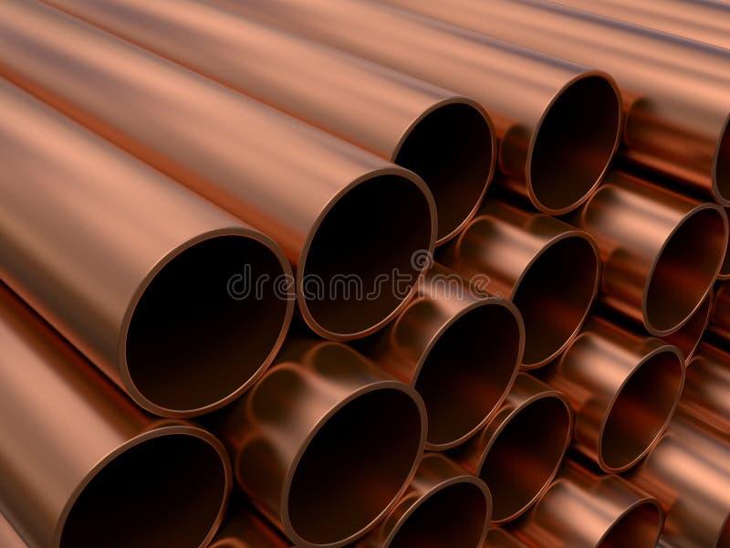 Tubulações de cobre ilustração do vetor