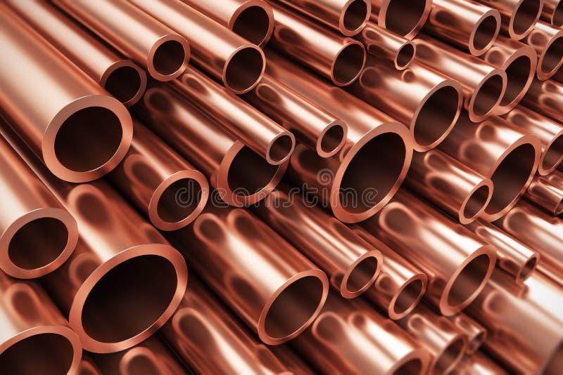 Tubulações de cobre ilustração royalty free