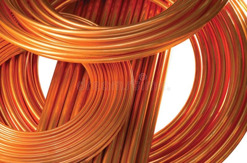 Tubulações de cobre isoladas no branco imagem de stock royalty free