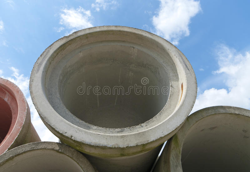 Tubulações de dreno foto de stock royalty free