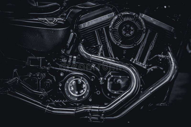 Tubulações de exaustão do motor do motor da motocicleta ilustração stock