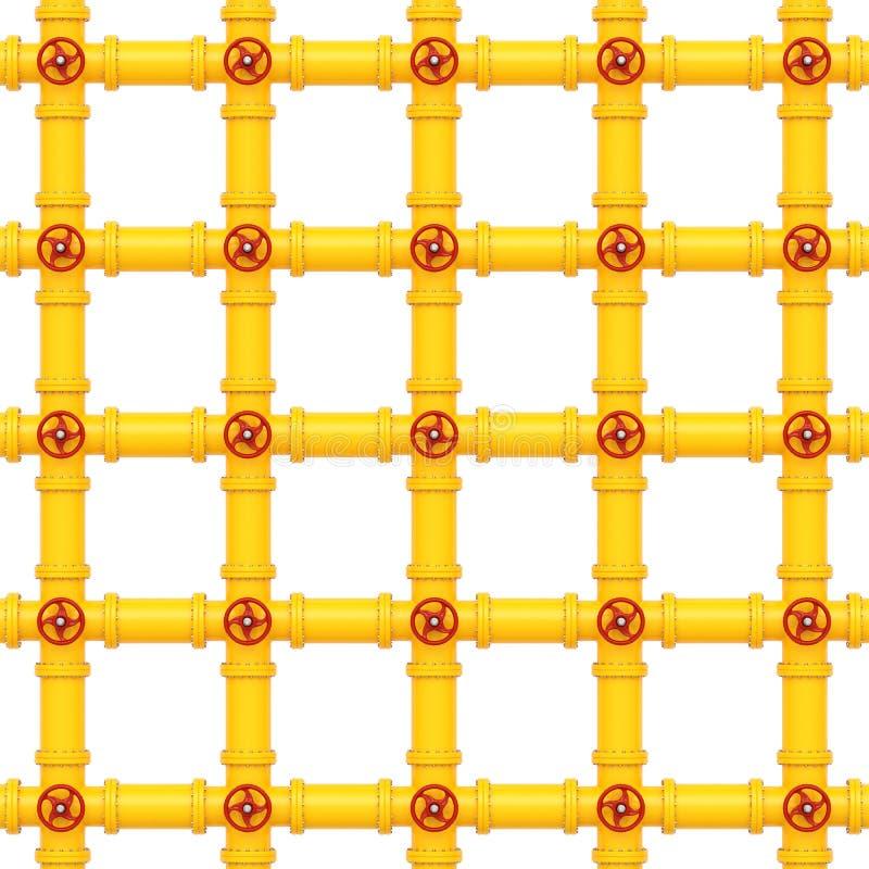 Tubulações de gás amarelas em um fundo branco imagens de stock