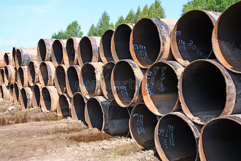 Tubulações de gás velhas fotografia de stock
