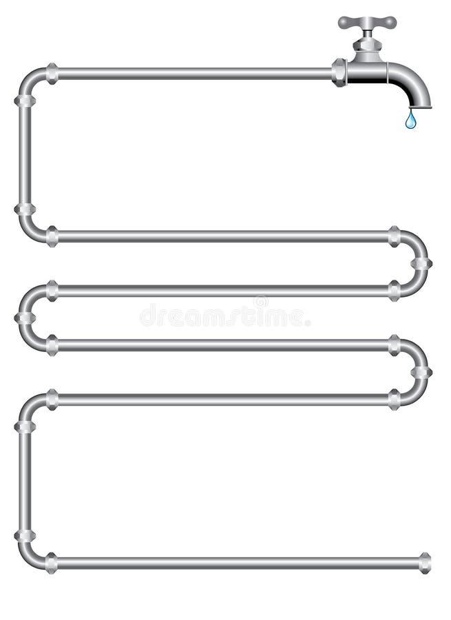 Tubulações de Watter ilustração do vetor