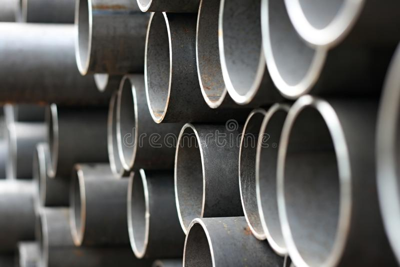 Tubulações do metal fotografia de stock