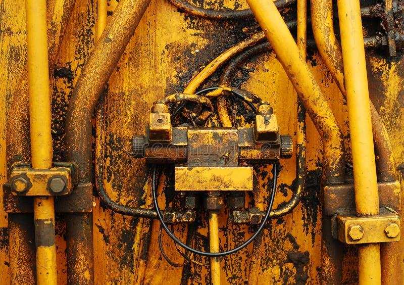 Tubulações do motor foto de stock