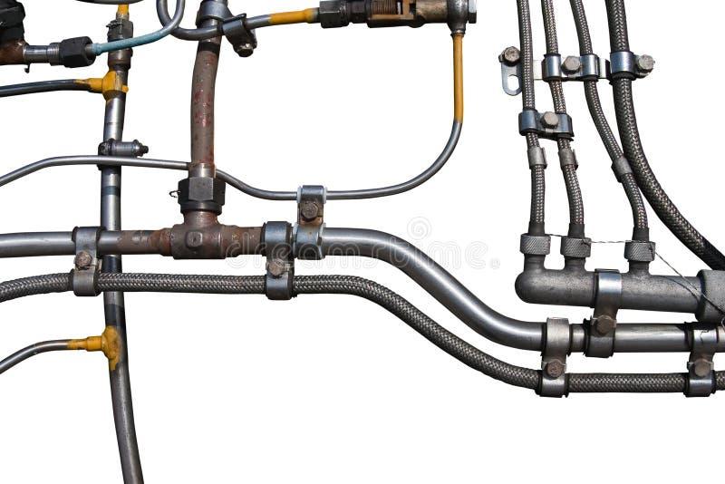 Tubulações do motor de jato para dentro foto de stock
