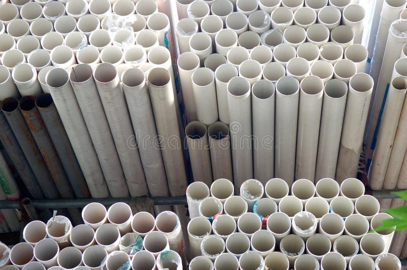 Tubulações do PVC imagens de stock