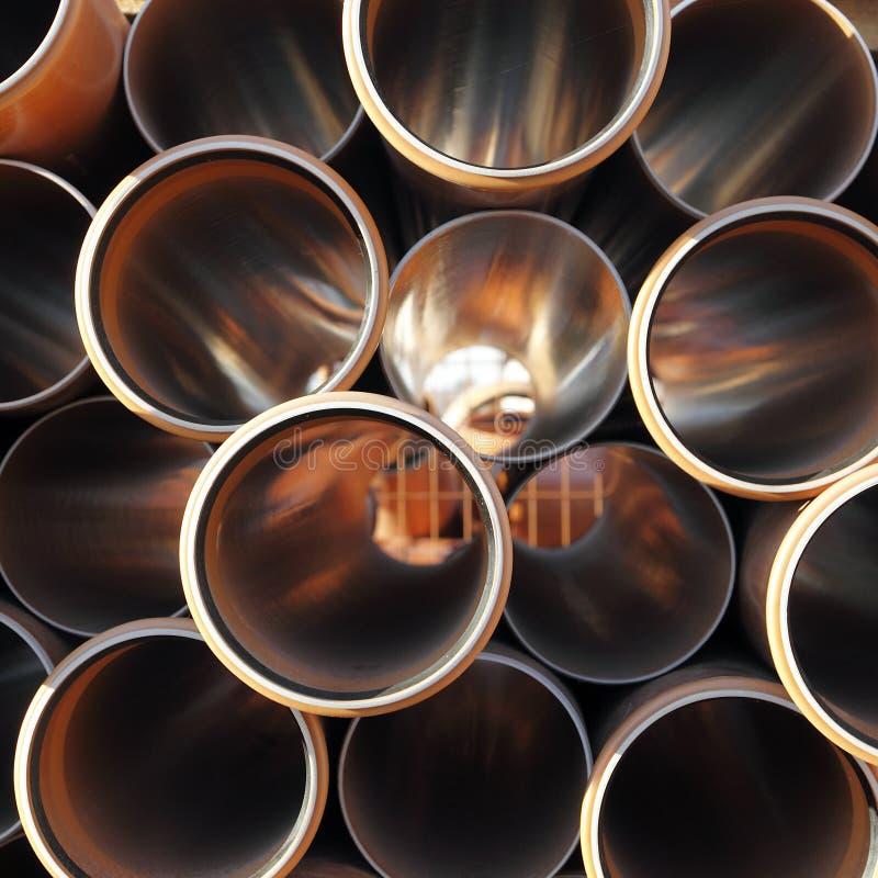 Tubulações industriais foto de stock